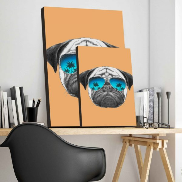Placa Decorativa Dog Hipster