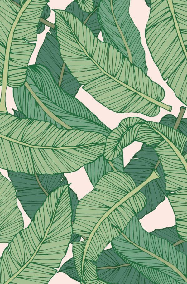 Placa Decorativa Folhagem Tropical