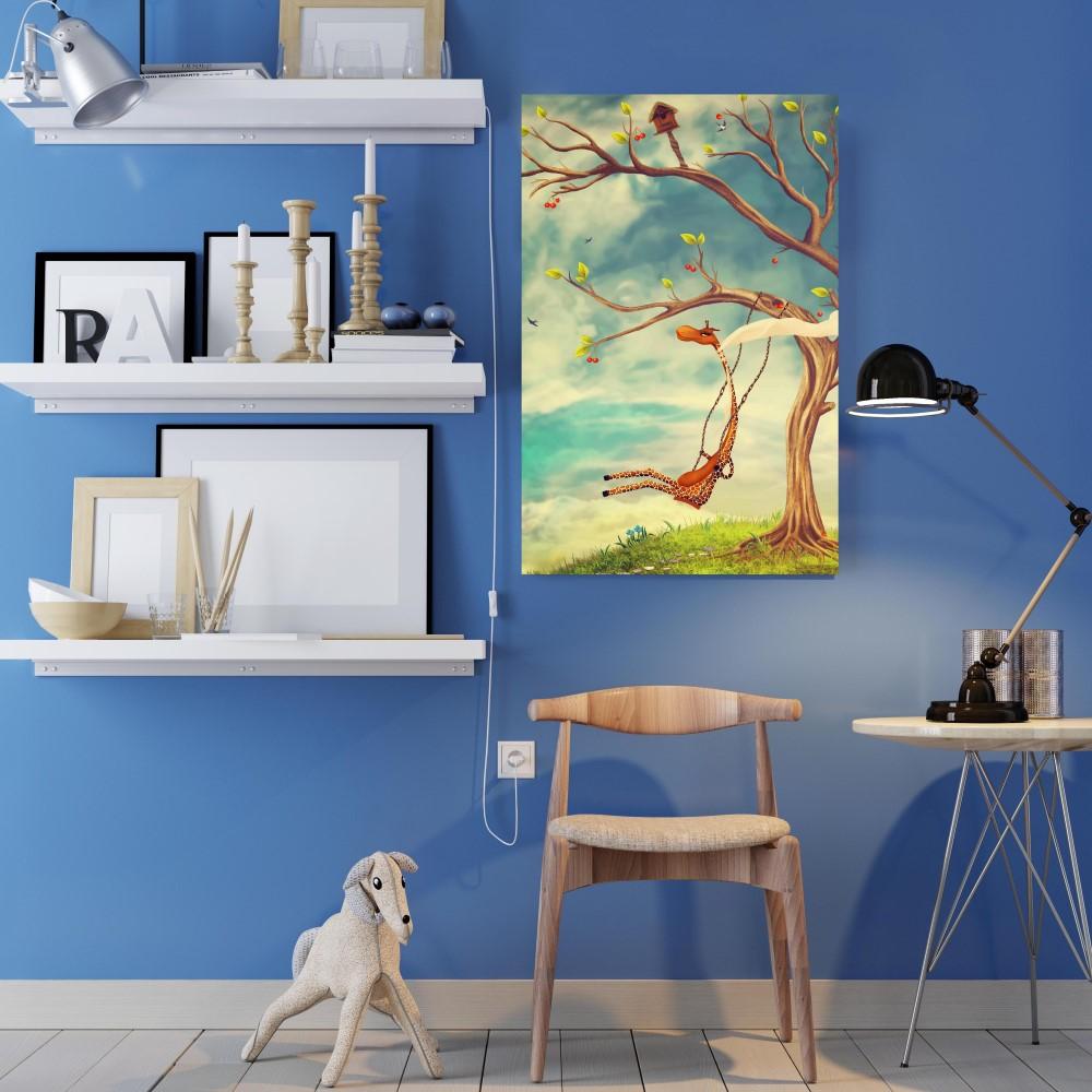 Placa decorativa girafa stickdecor for Art decoration pl