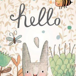 Placa Decorativa Hello