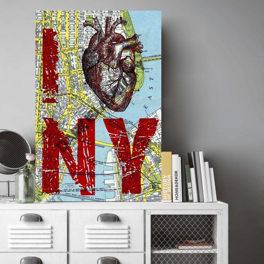 Placa decorativa i love ny stickdecor for Art decoration pl