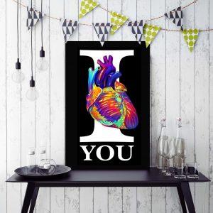 Placa Decorativa I Love You