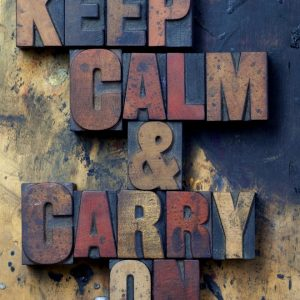 Placa Decorativa Keep Calm Carry On