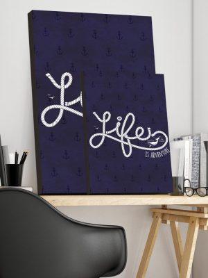 Placa Decorativa Life is Adventure