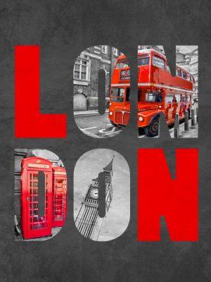 Placa Decorativa London