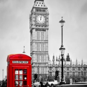Placa Decorativa London Telephone