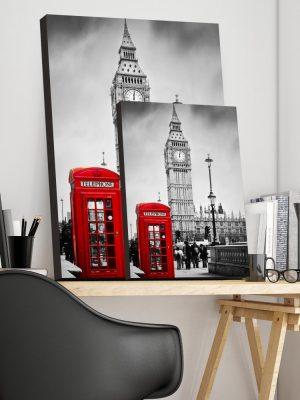 Placa Decorativa London Telephone