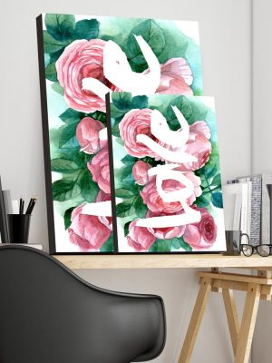 Placa Decorativa Love Floral
