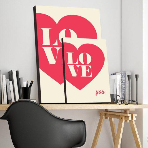 Placa Decorativa Love You