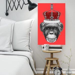 Placa Decorativa Macaco Hipster