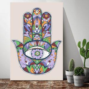 Placa Decorativa Mão de Fátima