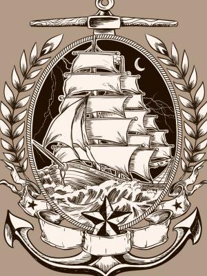 Placa Decorativa Navio