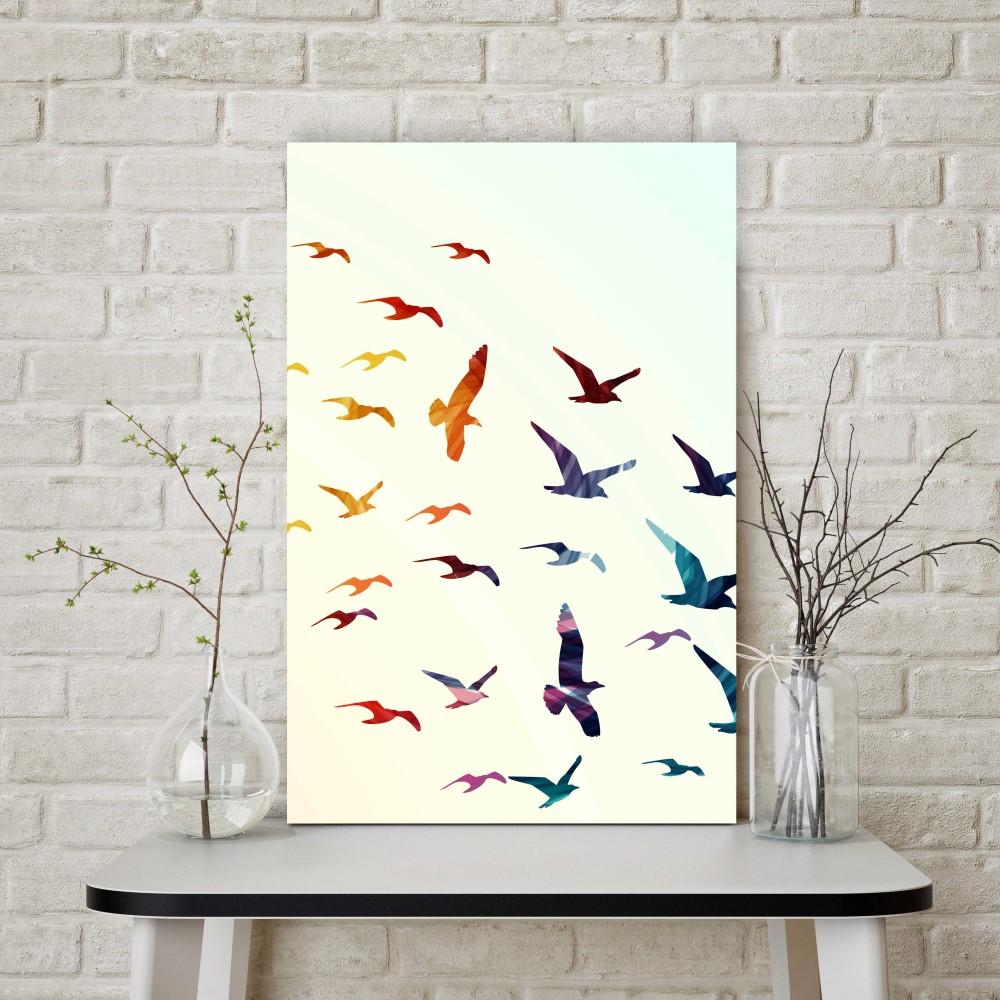 Placa decorativa passarinhos stickdecor for Art decoration pl