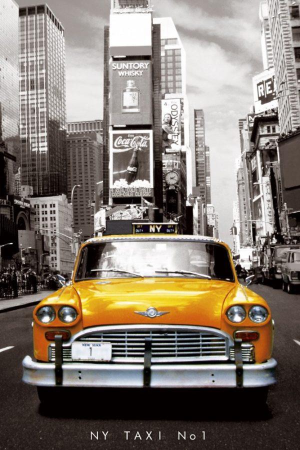 Placa Decorativa Taxi