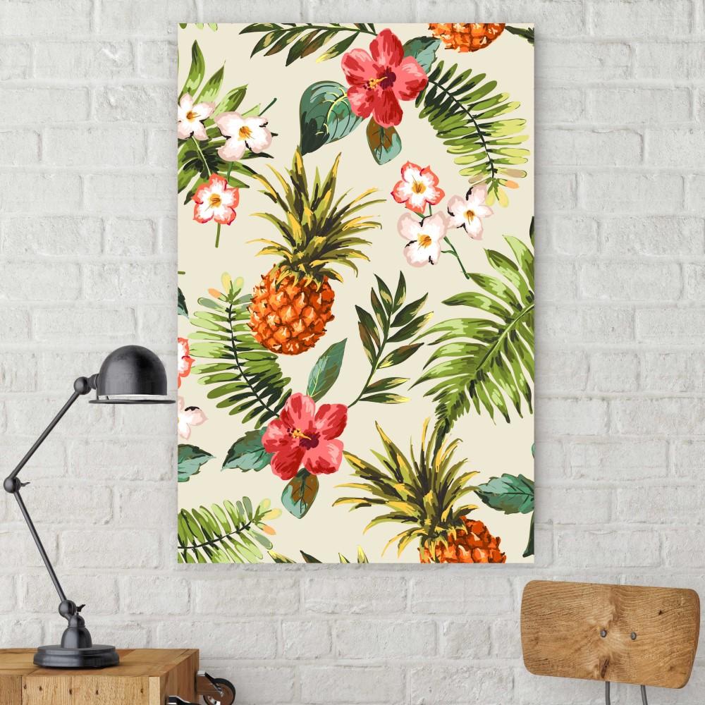 Placa decorativa tropical abacaxi stickdecor for Art decoration pl