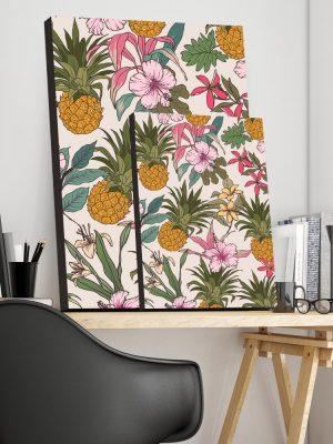 Placa Decorativa Tropical Abacaxi