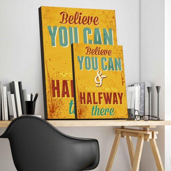 Placa Decorativa Vintage Believe You Can