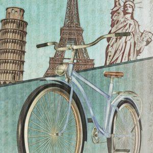 Placa Decorativa Vintage Bicicleta