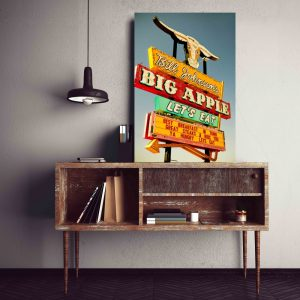 Placa Decorativa Vintage Big Apple