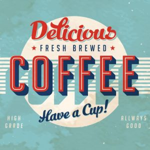 Placa Decorativa Vintage Coffee