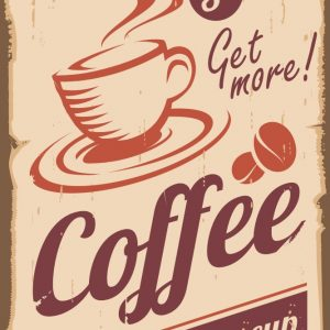 Placa Decorativa Vintage Coffee