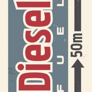 Placa Decorativa Vintage Diesel