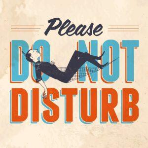 Placa Decorativa Vintage Do Not Disturb