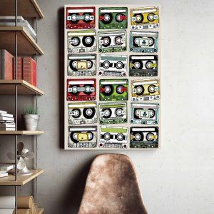 Placa Decorativa Vintage Fitas K7