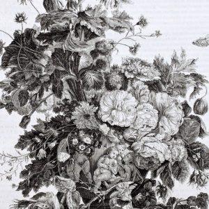 Placa Decorativa Vintage Flores