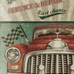 Placa Decorativa Vintage Garage