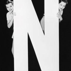 Placa Decorativa Vintage Letra N