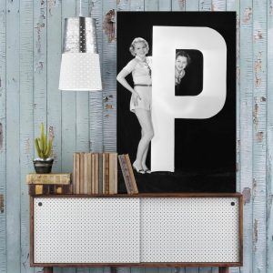 Placa Decorativa Vintage Letra P