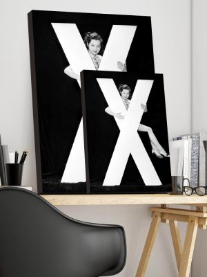 Placa Decorativa Vintage Letra X