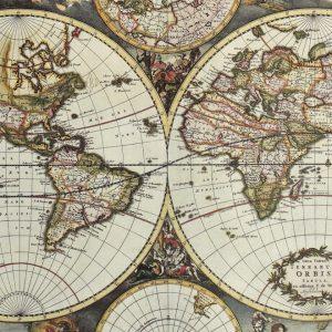 Placa Decorativa Vintage Mapa