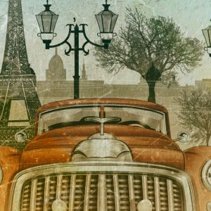 Placa Decorativa Vintage Paris