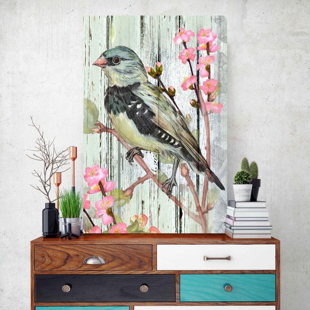 Placa decorativa vintage passarinho stickdecor for Art decoration pl