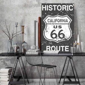 Placa Decorativa Vintage Route 66