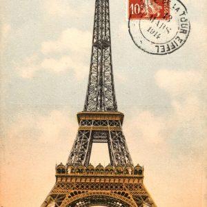 Placa Decorativa Vintage Torre Eiffel