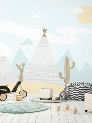 Painel Fotográfico Deserto com Cabanas