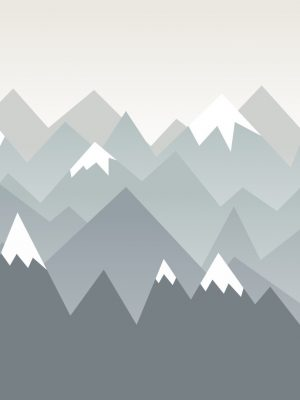Painel Fotográfico Montanhas Neve