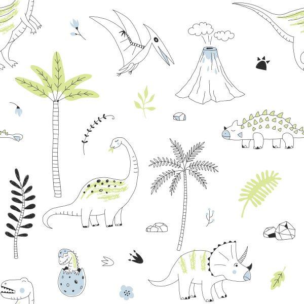 Papel de Parede Adesivo Dinossauros