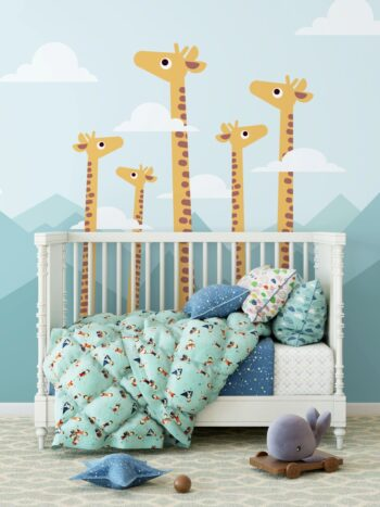 Painel Fotográfico Infantil Girafas