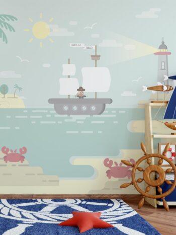 Painel Fotográfico Ilha do Pirata