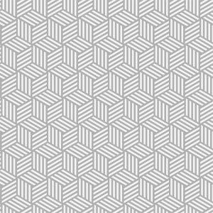 Papel de Parede Adesivo Geométrico Cubos em Linhas