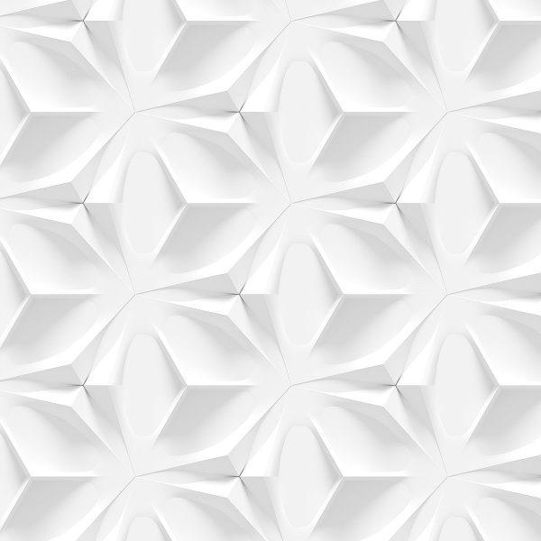 Papel de Parede Adesivo Textura Branca 3D