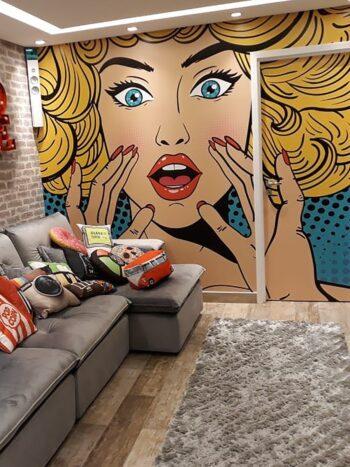Painel Fotográfico Retrô Pop Art