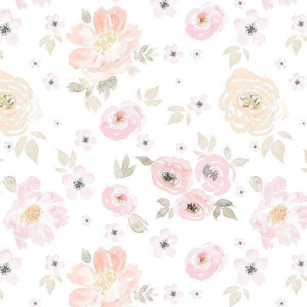 Painel Fotográfico Floral Watercolor