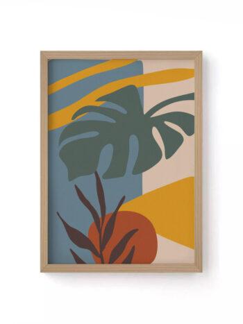 Quadro Folhas Tropical II